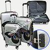 """Набор чемоданов 2+1 в подарок, Поликарбонат """"Бабочка-2"""""""