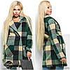 Осеннее модное пальто кашемировое в клетку, фото 3