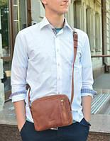 Мужская универсальная сумка из кожи ручной работы
