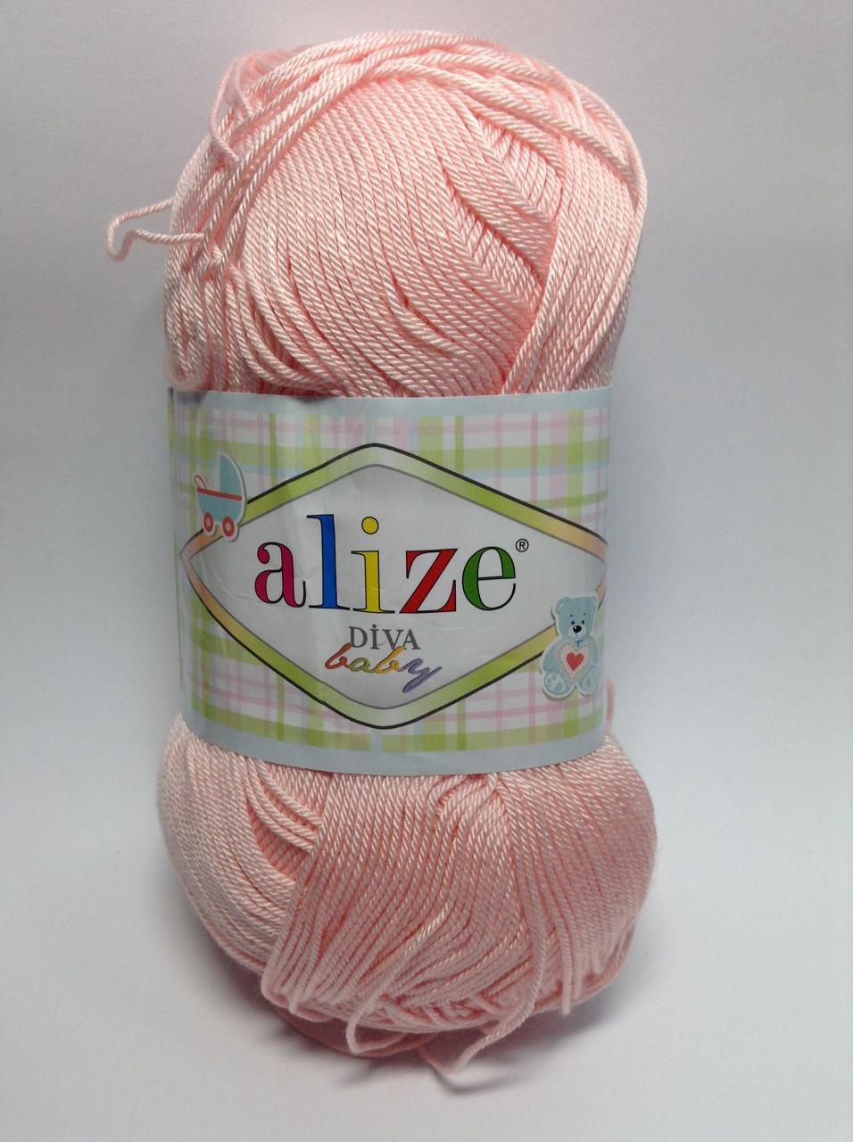 Пряжа diva - цвет нежно-розовый