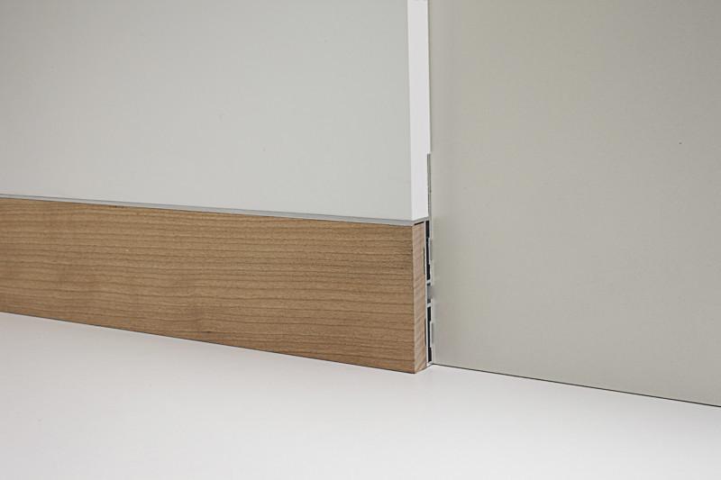 Алюминиевый плинтус с деревяной отделкой 88/6+87/6 Орех