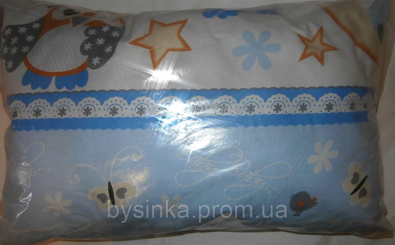 Детские подушки от года, размером 38*58 см, высотой 7,8 см