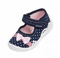 Текстильные тапочкидля девочки Viggami (Вигами) Польша р.23-27Мая Maja (мокасины, текстильная обувь)