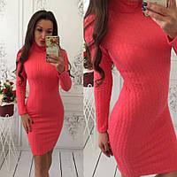 Женское теплое платье - гольф