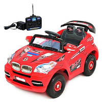 Детский Электромобиль Джип BMW x8 красный на надувных колесах на р/у, без колпаков