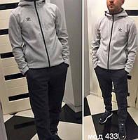 """Тёплый мужской спортивный костюм на байке 433 """"ADIDAS-PORSCHE"""""""