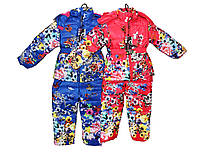 Комбинезоны детские теплые на меху для девочки, фото 1
