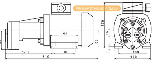 Купить БГ11-11 в Украине. Насосный агрегат БГ11-11 - схема, габаритные размеры.