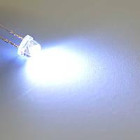 Светодиод  d4,8мм белый (6000-6500K) 2,0-2,5cd DRP-F5strawhatwhite