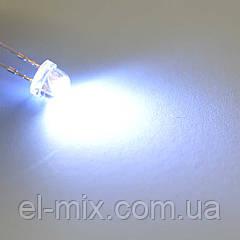 Світлодіод d4,8мм, білий (6000-6500K) 2,0-2,5 cd DRP-F5strawhatwhite
