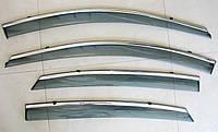 K2 SEDAN /RIO SEDAN 2011 ветровики с молдингом нерж сталь