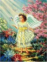 Схема для вышивки бисером Ангелок и птички