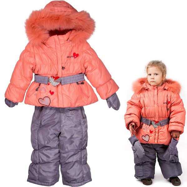 Зимняя куртка с полукомбинезоном «Arista» для девочек (80-104 р)