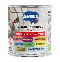 Эмаль-экспресс SMILE Рубиновая Молотковый эффект 3 в 1 (0,7 кг)