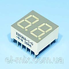 Индикатор светодиодный 2 разряда  9мм ОА, динамика, красный E20362-I-O-8-W  Toyo