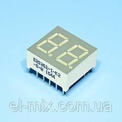 Индикатор светодиодный 2 разряда  9мм ОА, динамика, зеленый E20362-I-K2-8-W  Toyo