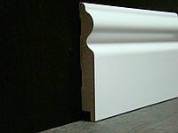 Плинтус напольный высокий белый 16*110*2800 мм