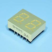 Индикатор светодиодный 2 разряда 10,2мм ОА, динамика, зеленый YDD-040AG-10 Yiow Chie