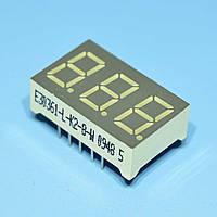 Индикатор светодиодный 3 разряда  9мм ОК, динамика, зеленый E30361-L-K2-8-W  Toyo