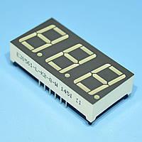 Индикатор светодиодный 3 разряда 14.2мм ОК, динамика, зеленый E30561-L-K2-8-W  Toyo