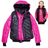 "Куртка-двойка для девочки ""Black&Red"""