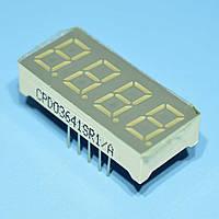 Индикатор светодиодный 4 разряда  9мм ОА, динамика, красный CPD03641SR1/A  CPM