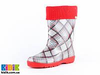 Гумові чоботи для дівчинки ALISA шотландка