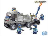 Конструктор SLUBAN  Спецназ,военная машина 232 дет. на бат-ке в коробке 3х28,5х6,5см M38-B0200