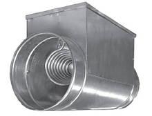 Электрический калорифер для круглых каналов