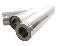 Труба-сэндвич оцинкованная для дымохода, (AISI 201) D = 130 мм, L = 250 мм
