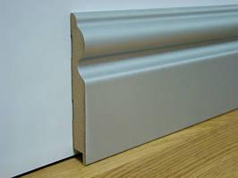Плинтус мдф для пола серебро (алюминий) 16*110*2800 мм