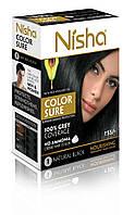 Безаммиачная стойкая крем-краска для волос TM Nisha с маслом авокадо Черная №1