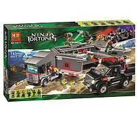 Конструктор Bela серия Черепашки Ниндзя 10277 Большая снежная погоня (аналог Lego Ninja Turtles 79116)