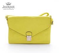 Яркая желтая сумка клатч