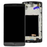 Дисплей для LG D724 G3s Dual + touchscreen, серый, с передней панелью, оригинал (Китай)