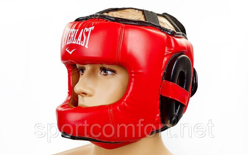 Шлем боксерский с бампером Flex Elast красный