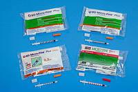 Инсулиновые шприцы BD Micro-Fine Plus с интегрированной иглой