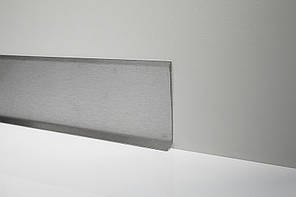 Стальной плинтус из нержавейки Н-60мм. Profilpas Metal line 790 нержавеющая сталь, сатинированный