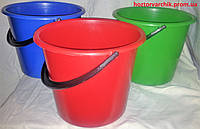 Ведро полиэтиленовое 5 литров цветное