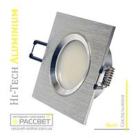 Алюминиевый светильник Hi-Tech Feron DL6102 AS20 Aluminium (встраиваемый потолочный) квадрат