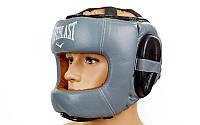 Шлем боксерский с бампером Flex Elast серый с черным