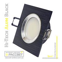 Алюминиевый светильник Hi-Tech Feron DL6102 AS20 Black Aluminium (встраиваемый потолочный) квадрат