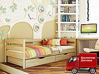 Кровать односпальная Нота из натурального дерева