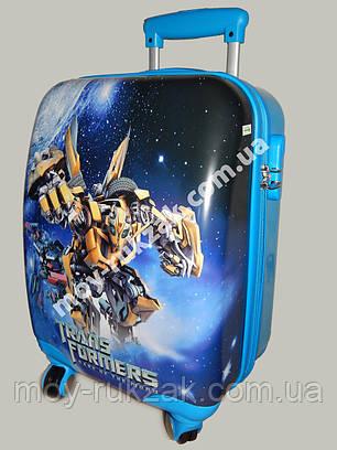 """Детский чемодан дорожный """"Josef Otten"""" Transformers-3, фото 2"""
