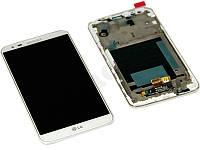 Дисплей для LG D802 G2/D805 + touchscreen, белый, с передней панелью, оригинал (Китай), 20 pin