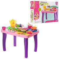 Кухонный детский столик с посудой и продуктами 222-H77