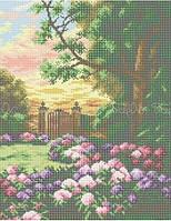 Схема для вышивки бисером Ворота в сад