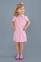 Платье детское для девочки с канатиком розовое 3 - 7 лет размер 98-128