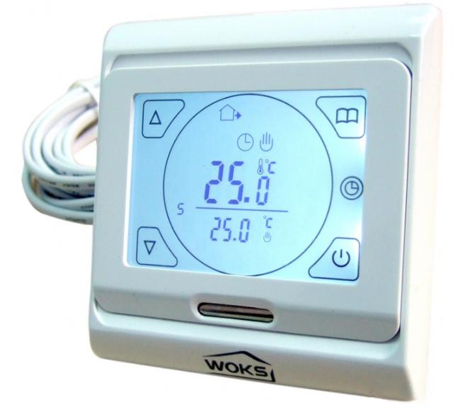 Терморегулятор для теплого пола Woks M 9.716 (программируемый, сенсорный)