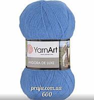 Yarnart Angora De Luxe - 600 небесно голубой